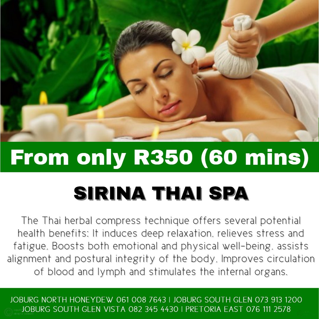 Sirina Thai Spa Herbal Compress Massage