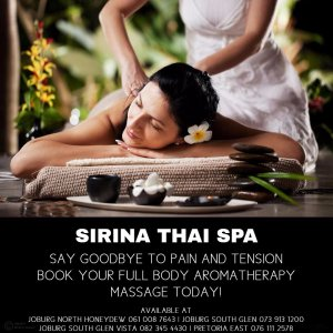 Aromatherapy Massage at Sirina Thai Spa
