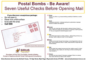 Postal Bomb Safety Poster