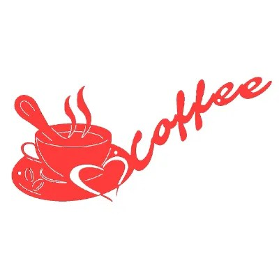 metal sign coffee red