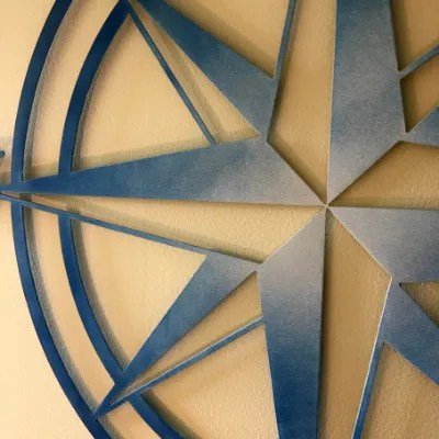 compass rose sign detail