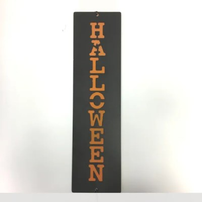 metal vertical custom word sign