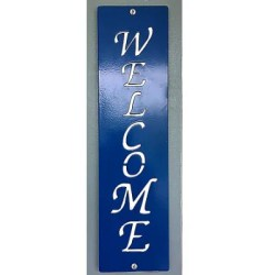 Metal Vertical Custom Sign