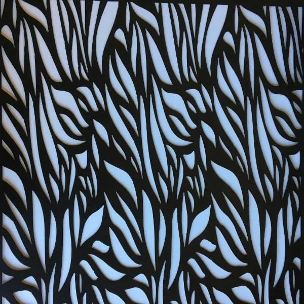 metal window panel geometric