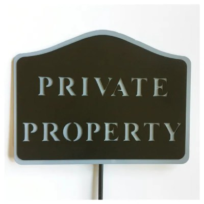 royal golf club private property sign