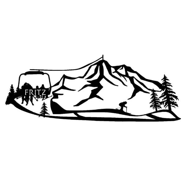 mountain family metal sign