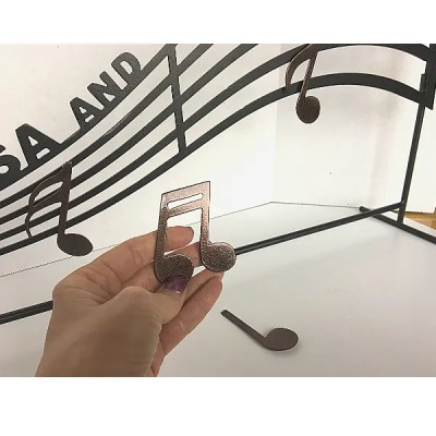 personalized music staff with notes decor