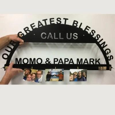 custom photo holder sign with photos