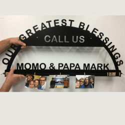 custom photo holder sign with photos
