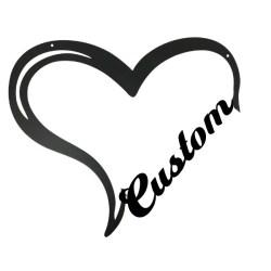 custom word heart sign