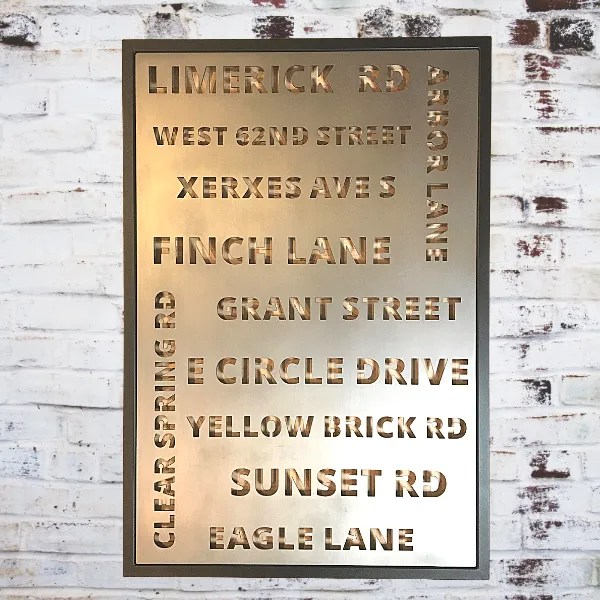 interior decor street names