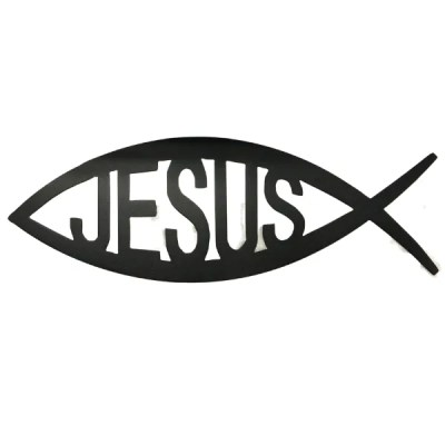 jesus fish wall art