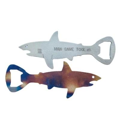 custom shark bottle openers