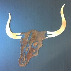 longhorn metal wall art
