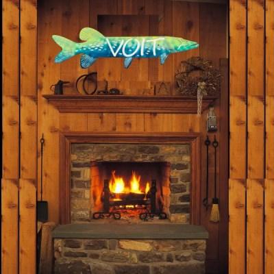 cabin fish sign