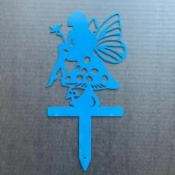 metal fairy garden stake