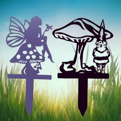 metal garden gnome stake