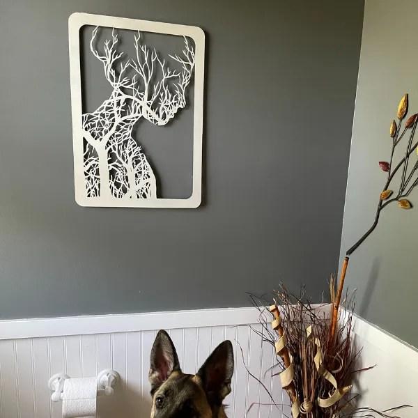 custom bathroom woman tree