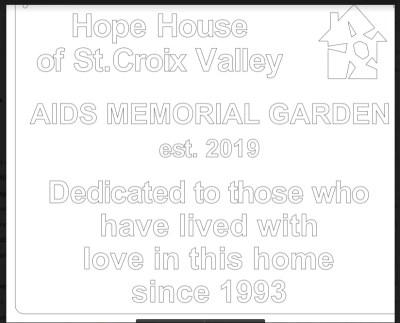hope house rock plaque