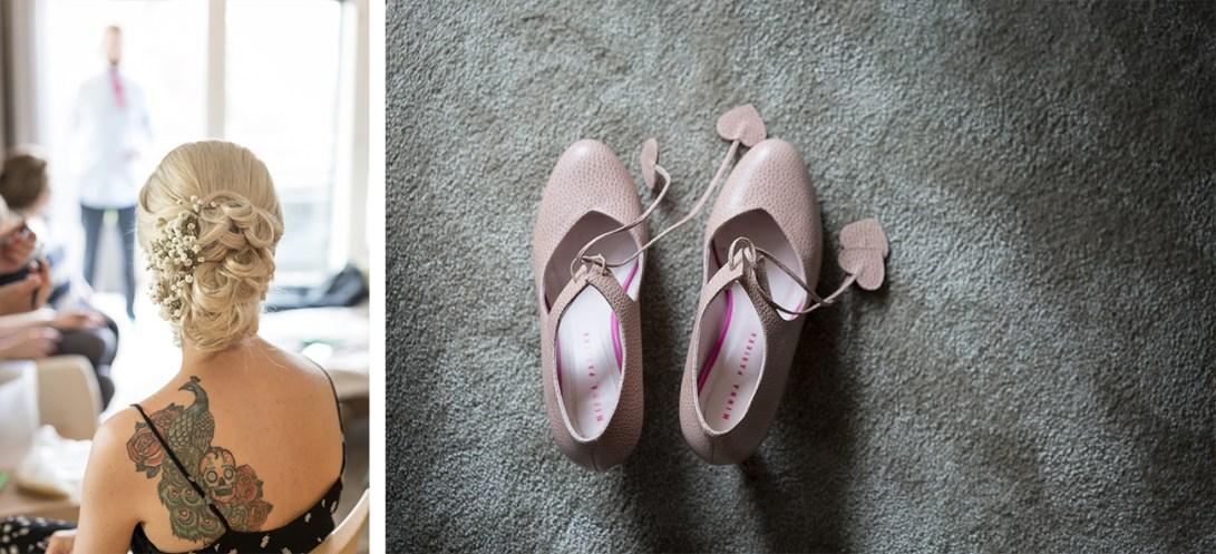 Hääkampaus ja Minna Parikka kengät