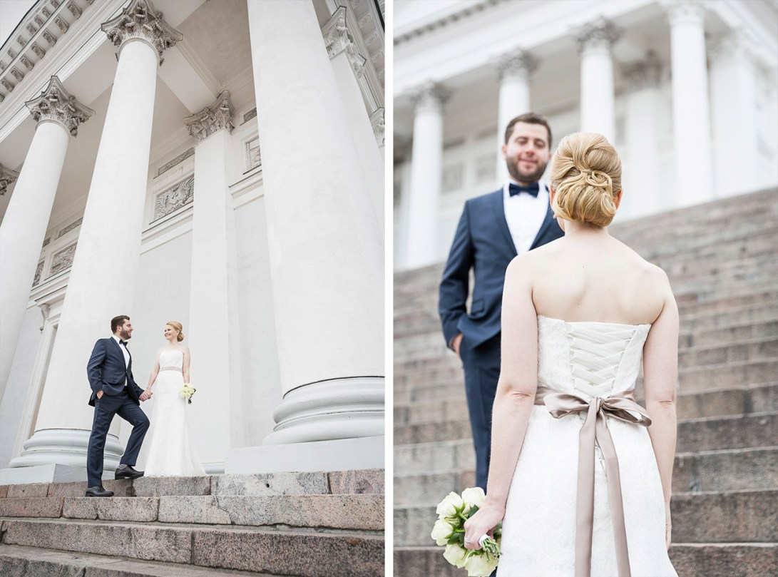 Wedding photography Helsinki Cathedral
