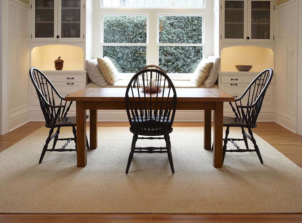 Synthetic Sisal Rugs Under Your Dining Room Table Sisalcarpet