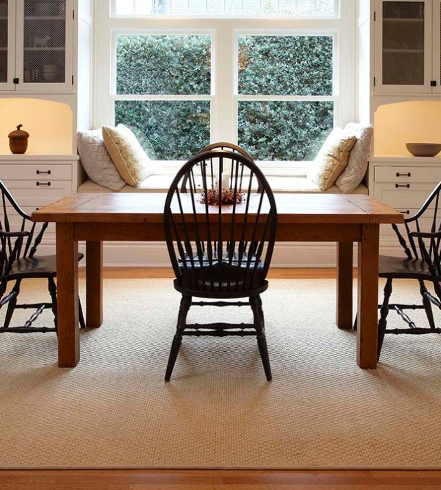 Synthetic Sisal Rugs Under Your Dining Room Table