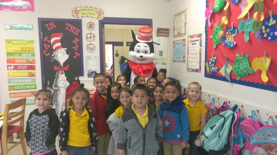 O Shea Keleher Elementary   Homepage     Cat in the Hat Visits Classrooms