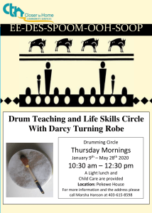 Drum Teaching & Life Skills Circle with Darcy Turning Robe @ Pekewe House