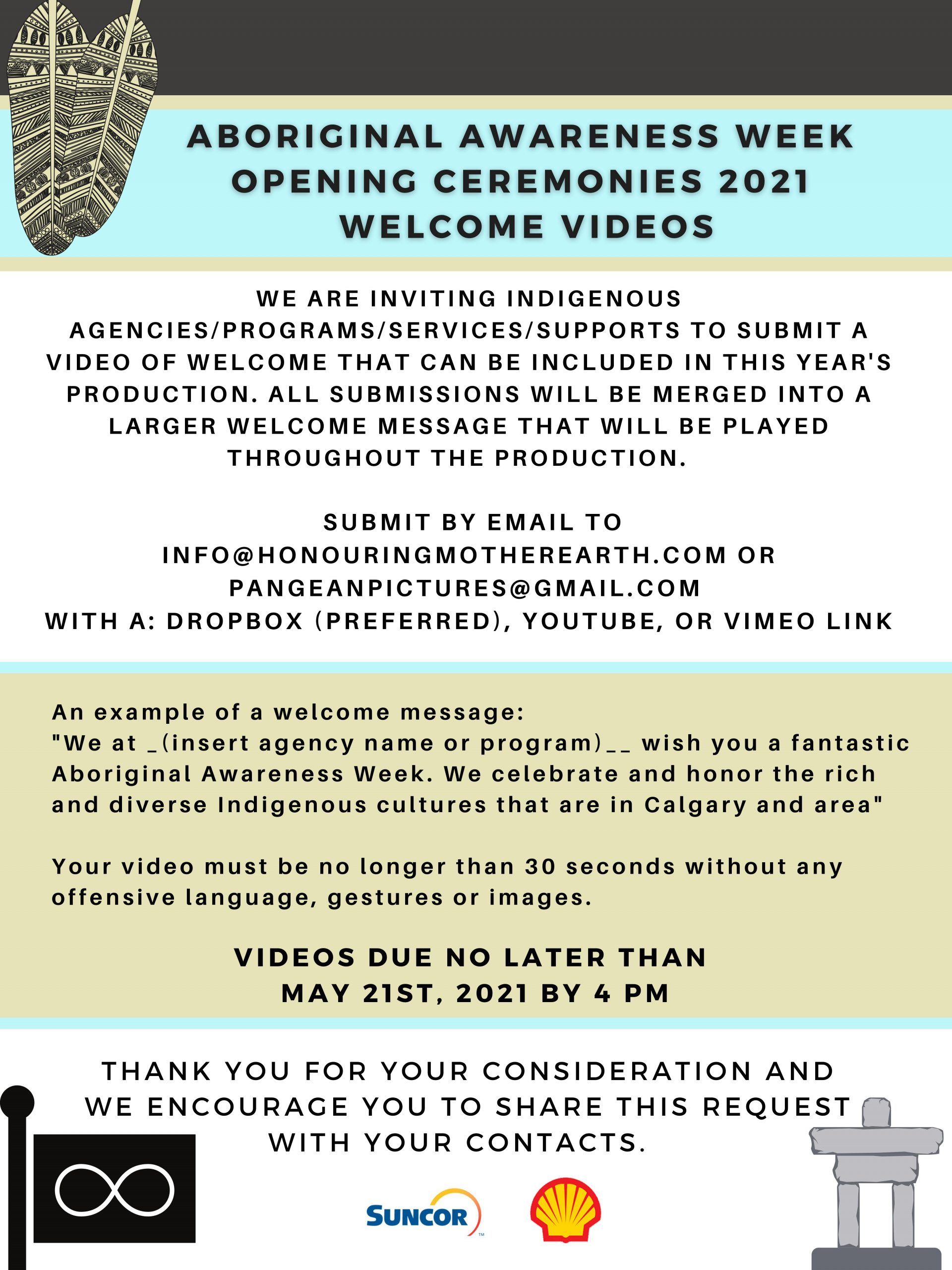 Read more about the article ABORIGINAL AWARENESS WEEK | Opening Ceremonies  2021 | Welcome Videos for Calgary and area