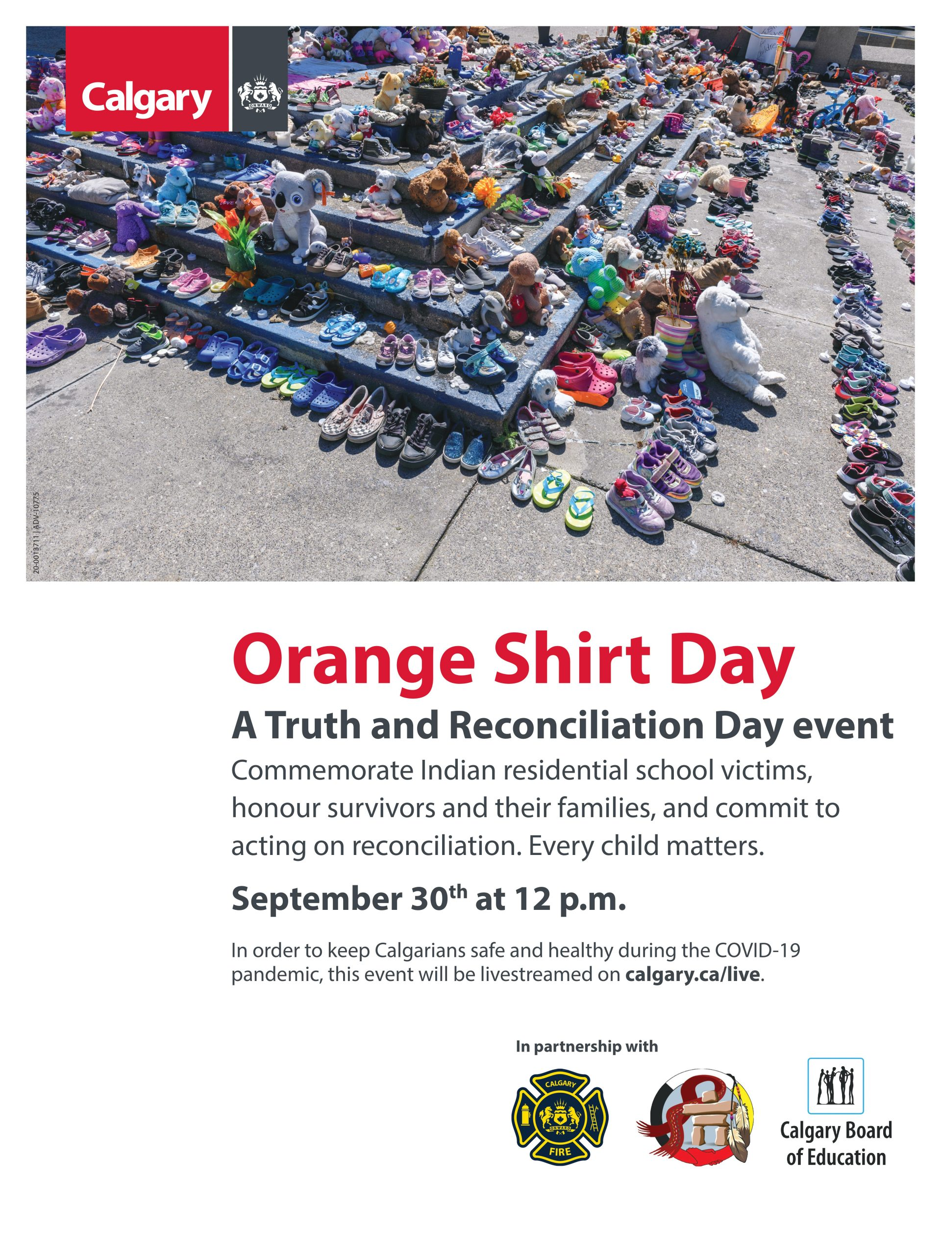 Read more about the article Orange Shirt Day – a Truth & Reconciliation Day event | City of Calgary