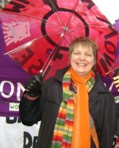pauline with umbrella