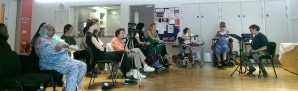 Participants listening to Simone