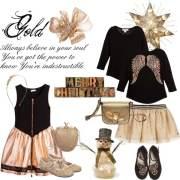 Kids Fashion: sparkle per le feste! Come vestire una bambina a Natale in nero e oro