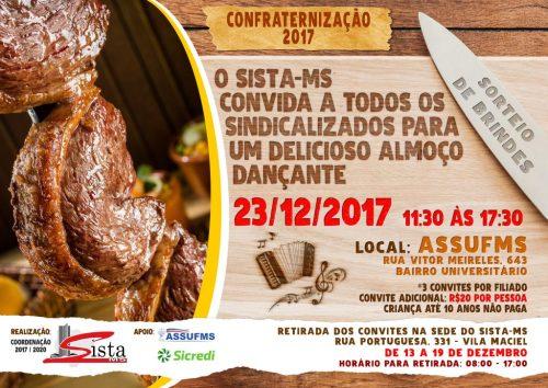 Retirada dos Convites para Confraternização Sista-MS 2017 @ Sista MS