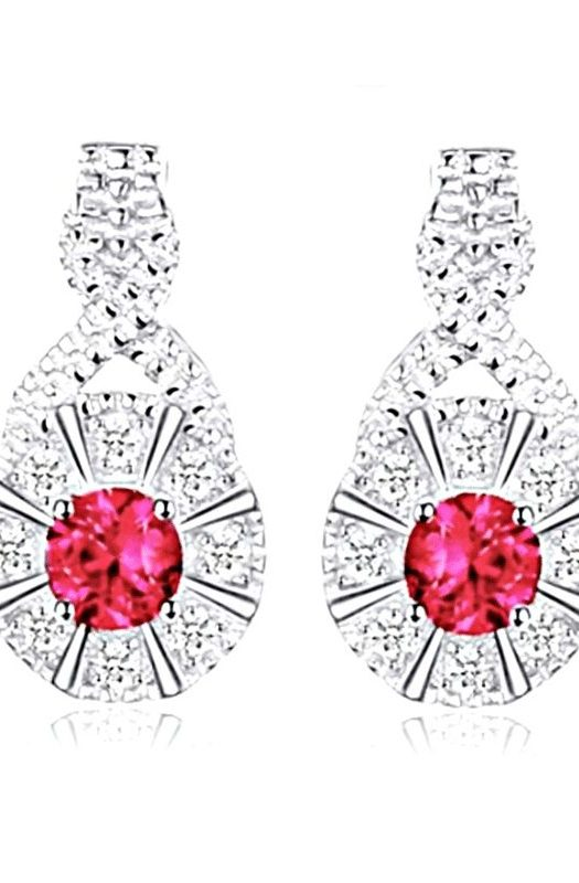 Elizabeth: Exquisite Ruby Earrings