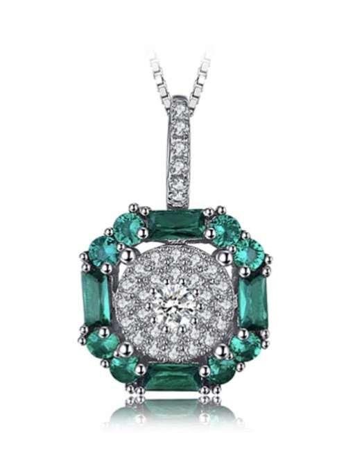 Natasha: Exquisite Emerald Pendant
