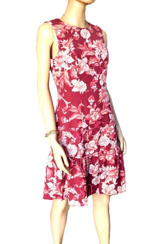 Raspberry: Sunny Girl Fully Lined Dress