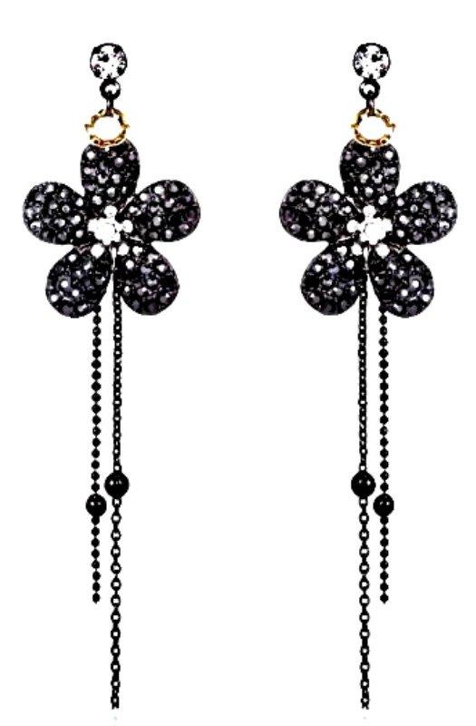 Petunia: Crystal Drop Earrings