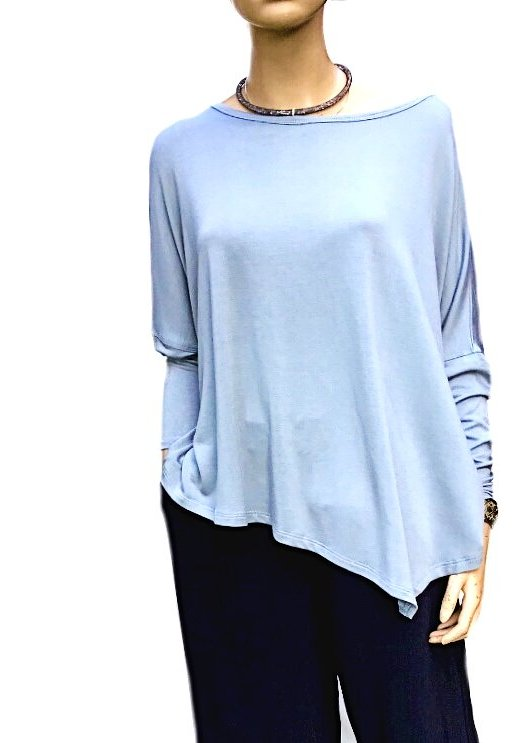 Sky: Long Sleeve Jersey Top