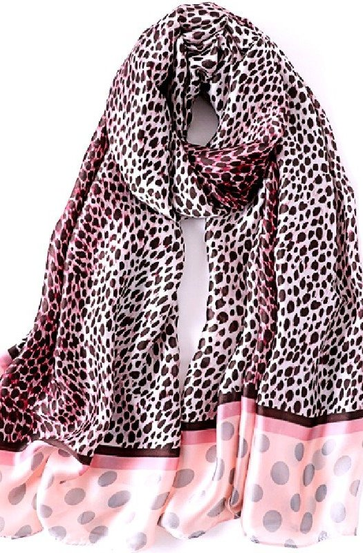Jane: Exquisite Polka Dot Leopard Scarf
