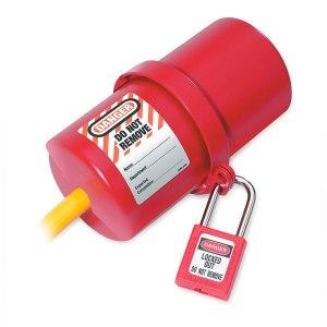 Bloqueo para enchufes circular rojo de 240 a 550 voltios