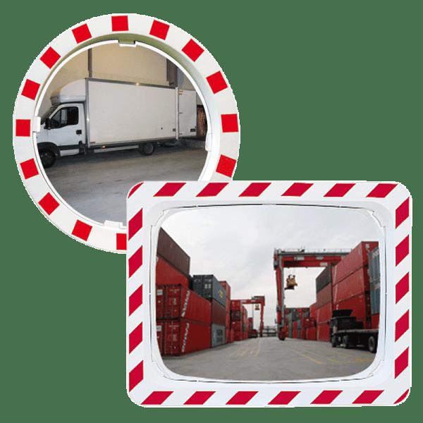 Espejos de tráfico con visión de 90º (2 direcciones)