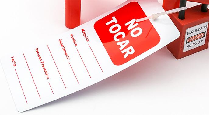 Etiquetas LOTO - Para tener centralizada toda la información importante referente al bloqueo