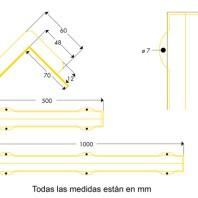 Medidas amortiguador de golpes atornillado tipo H+