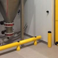 Protección de maquinaria con los guardarailes Soft-Shock