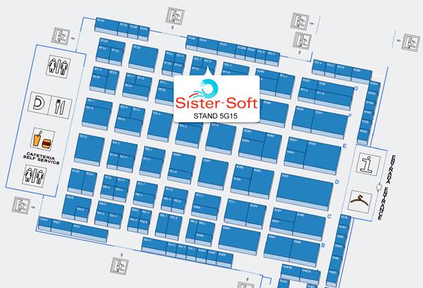 Ubicación de Sister-Soft dentro del pabellón 5 de SICUR - IFEMA