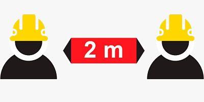 Imagen del distanciamento de dos metros en el ámbito laboral
