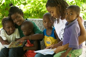A library without walls: reading to young children program