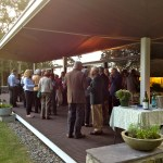 SCEH supporters and music lovers enjoying a reception after the concert